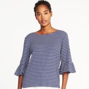 Old Navy Womens Relaxed Crinkle-Jersey Bell-Sleeve